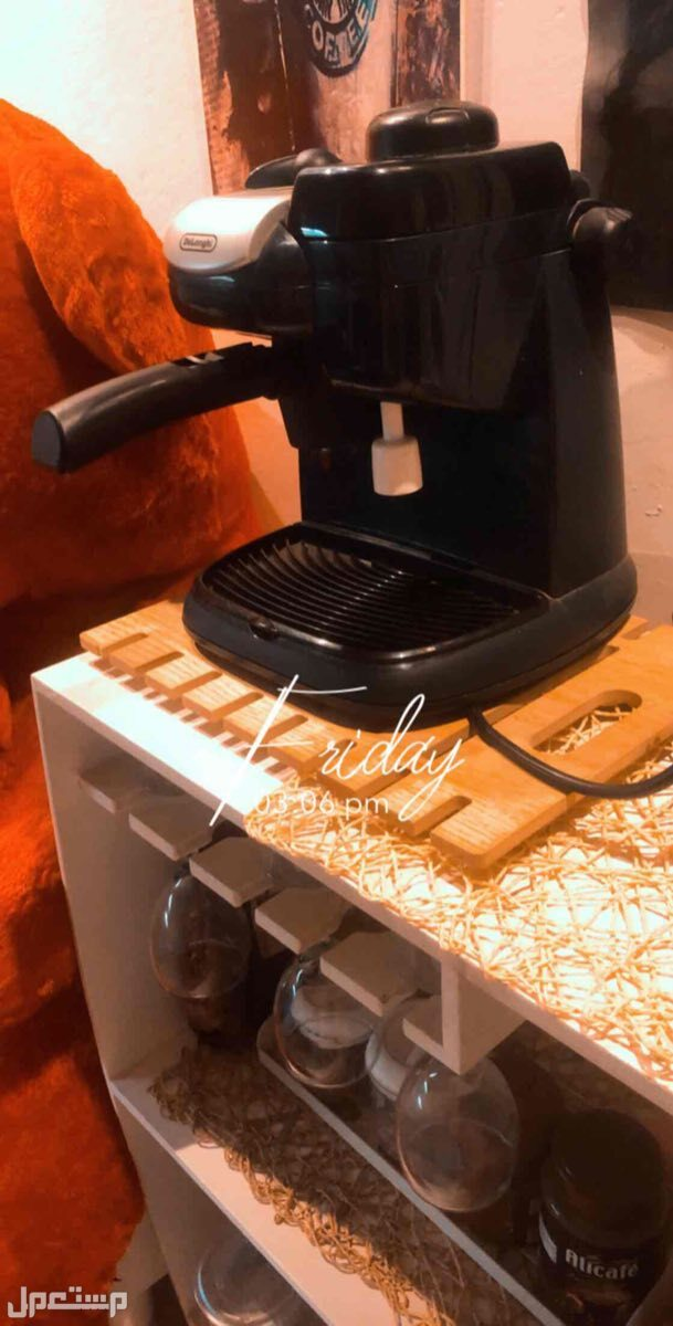 ركن قهوه + جهاز قهوه + لوحات