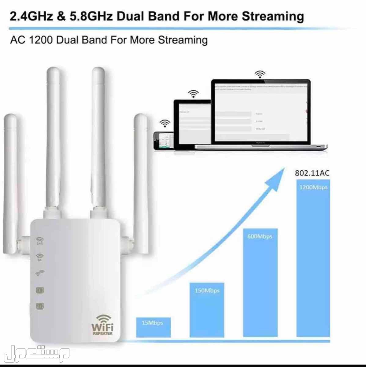 واي فاي تردد مزروج 5G+4G.2 سرعة الشبكه 1167