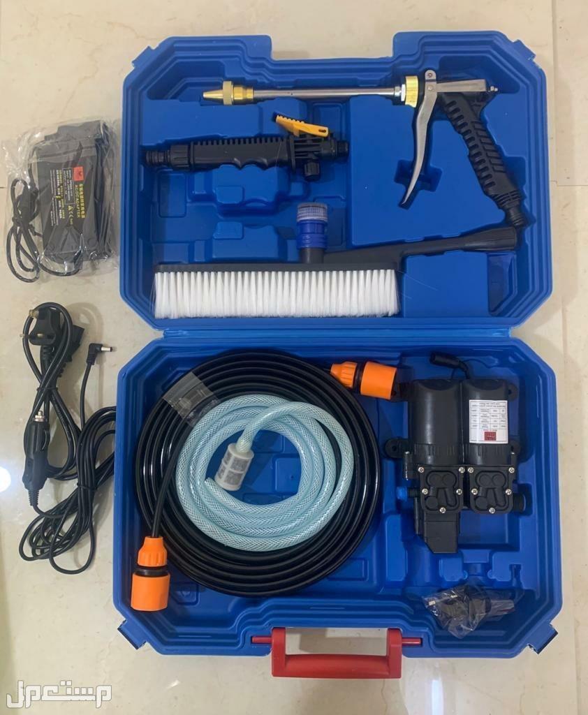 مضخة مياه لغسيل السيارة للتشغيل على ولاعة السيارة 12 فولت وكهرباء المنزل