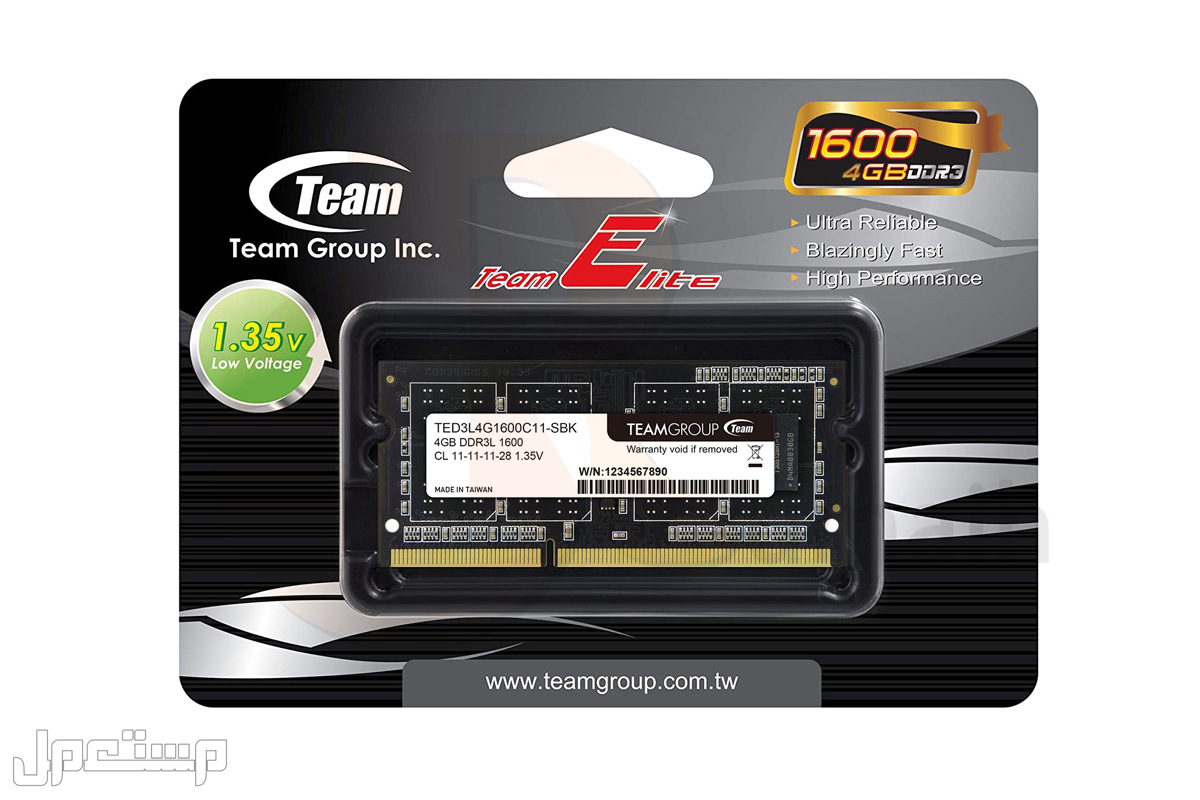 ذاكرة رام لابتوب 1600 DDR3 4GB