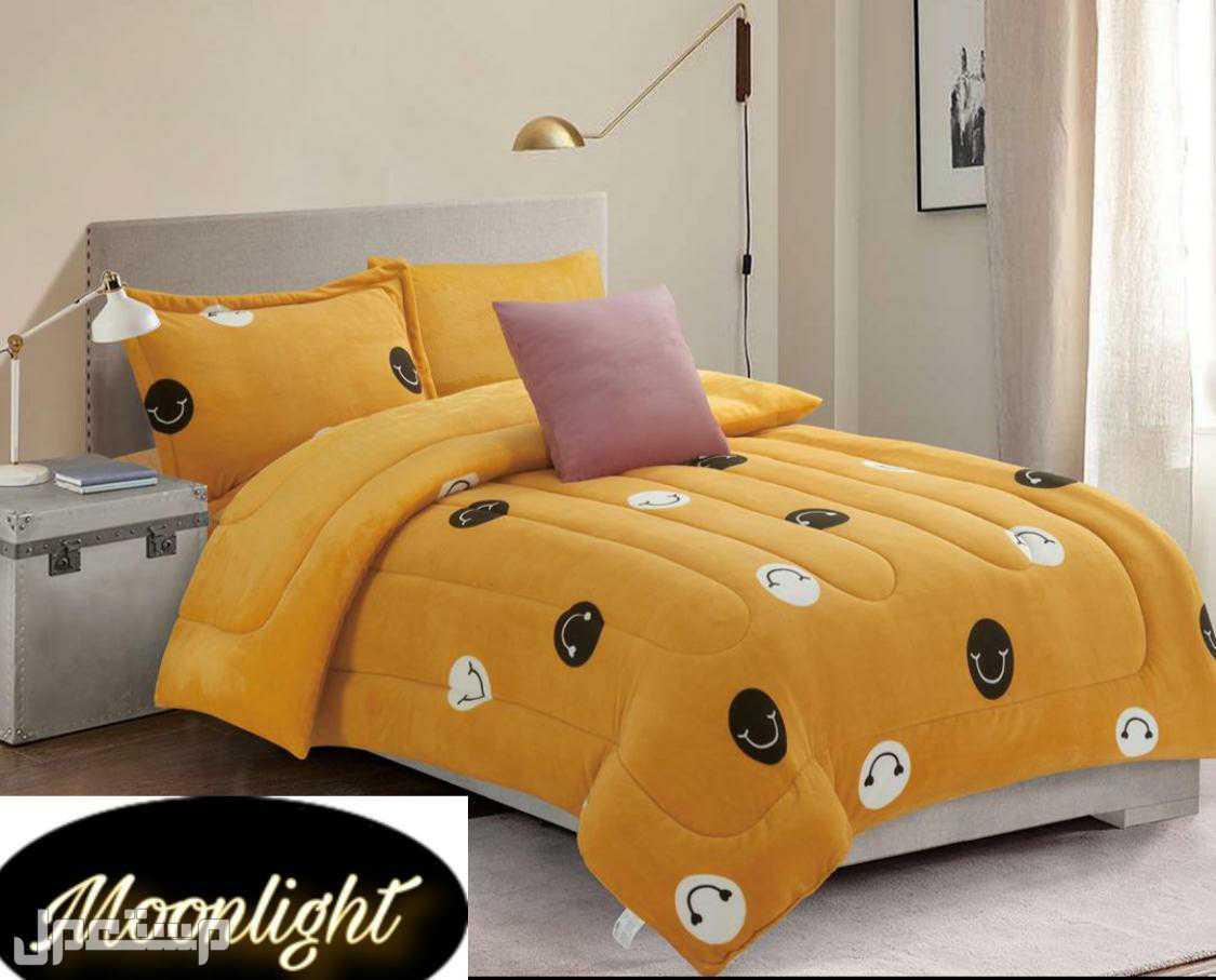مفارش سريري و مخدات توب ستار و لباد فندقي فاخر