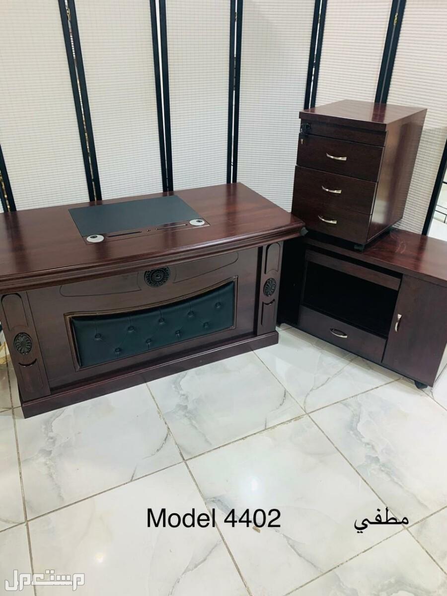 مكتب خشب قوي درجه اولى لون بني بسعر مخفض