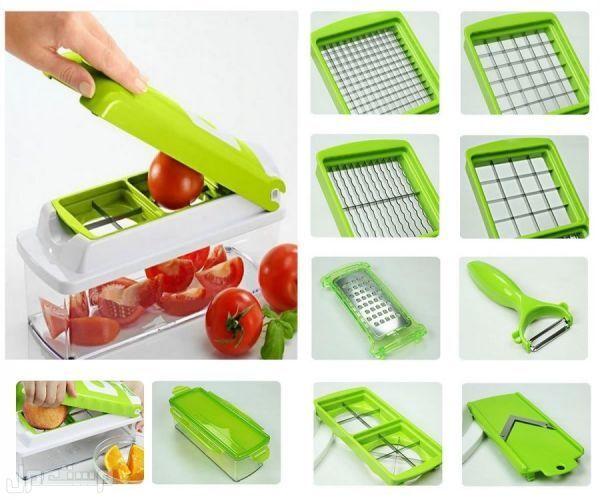 ماكينة تقطيع وتقشير وتخريط وبشر الخضراوات 12 قطعة أخضر