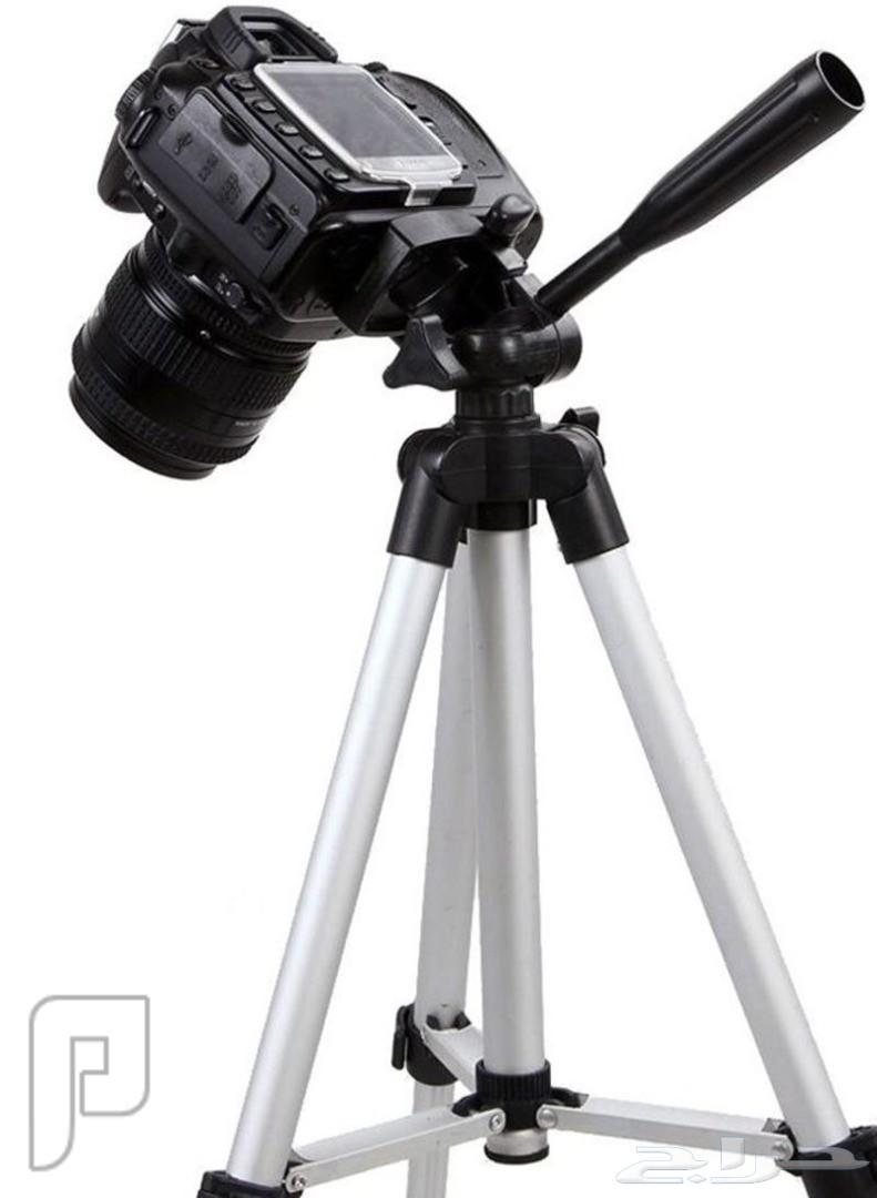 حامل كاميرا ثلاثي القوائم ومرن أسود