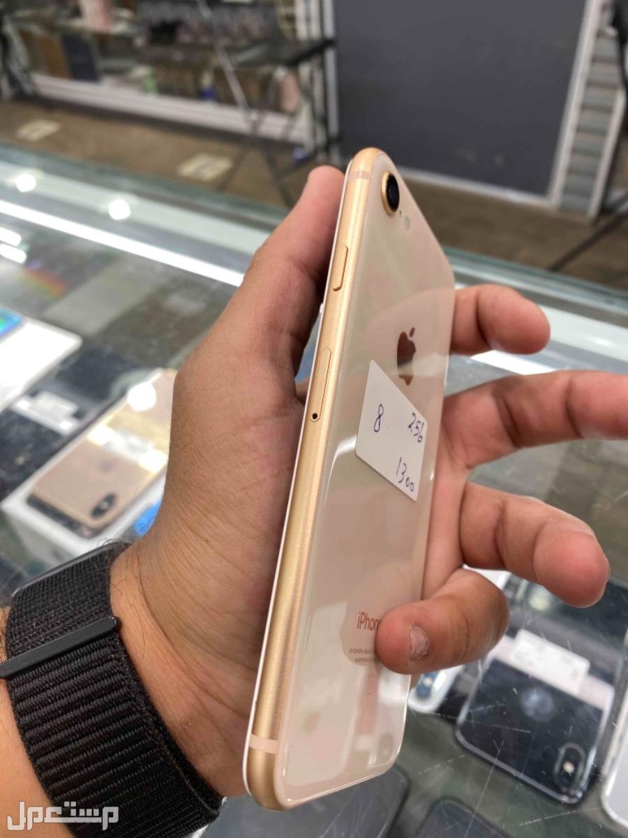 للبيع ايفون 8 ذهبي 256 مستخدم