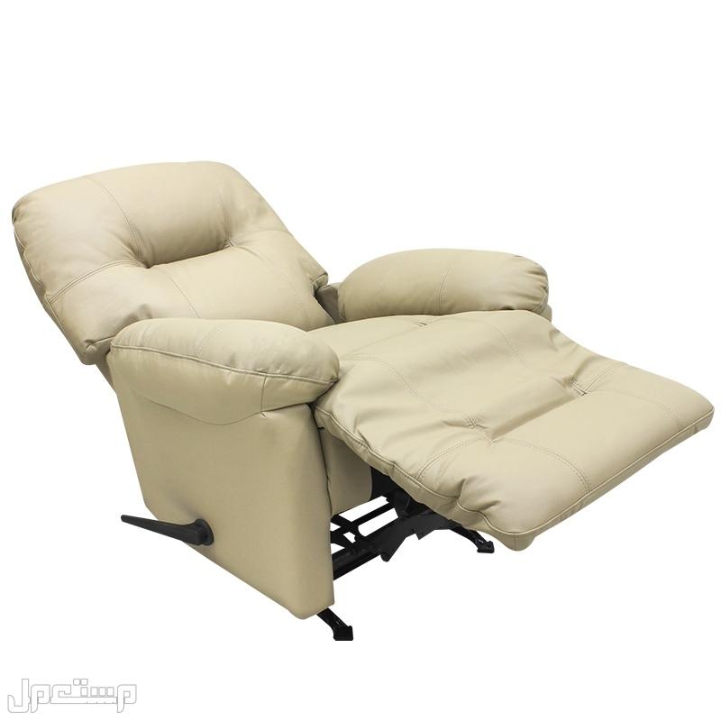 كرسي راحة هزاز وسط جلد