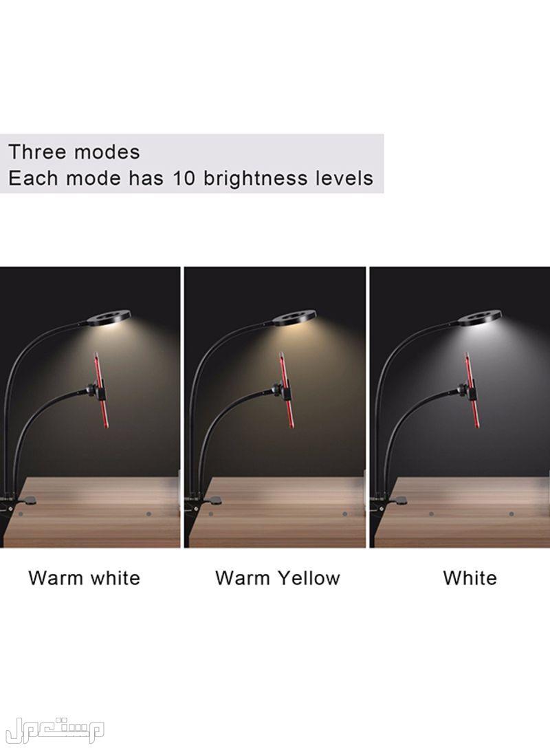 حامل هاتف محمول مرن مع ضوء LED أسود