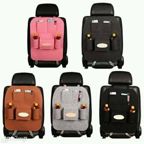 منظم مقعد السيارة المصنوع من القماش والمصنوع من الجلد