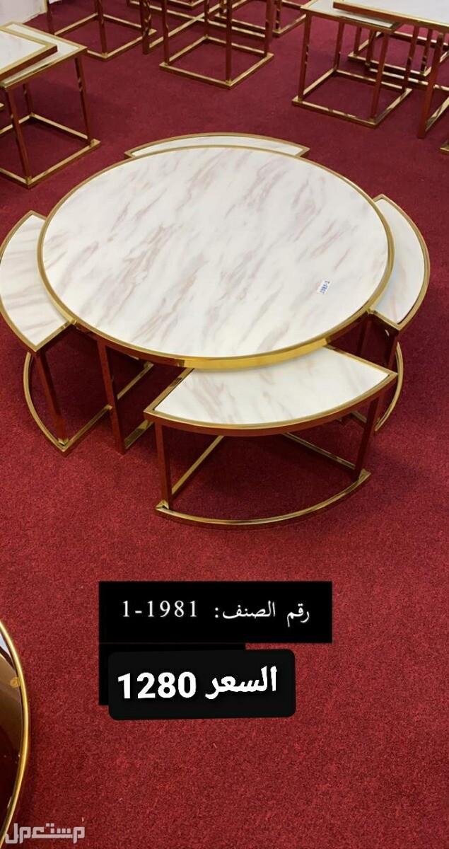 طاولات رخام واستيل(( جديدة))