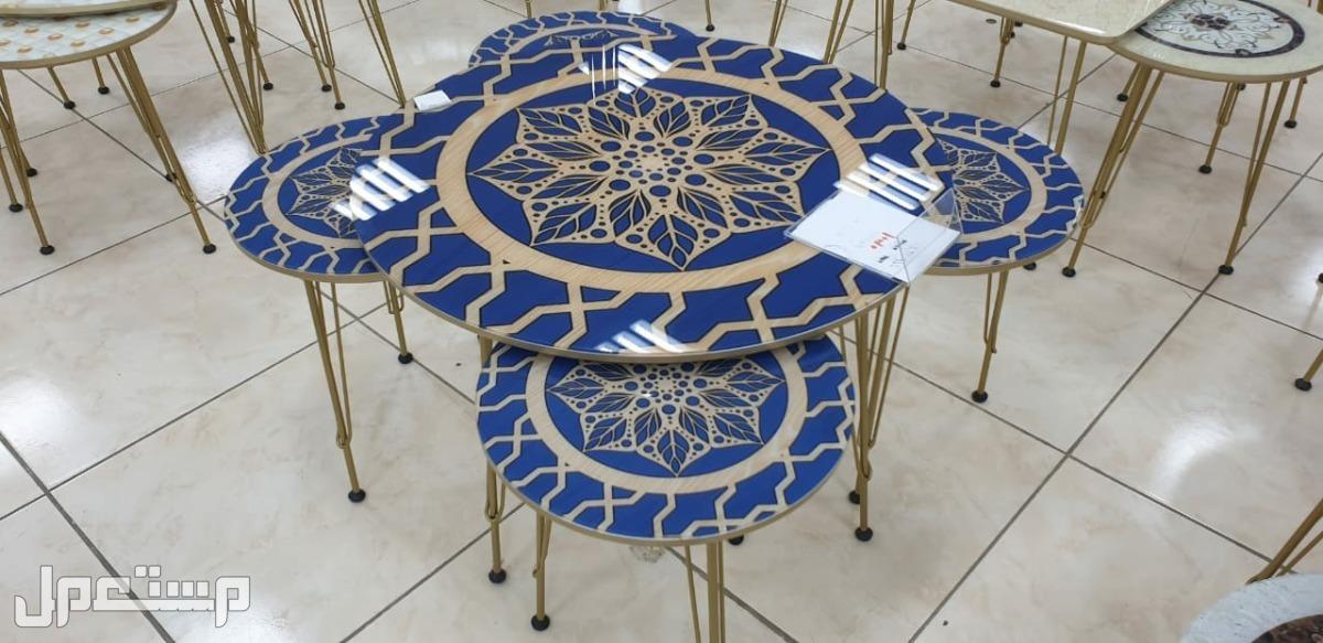 طاولات 5 قطع جديده بالكرتون صناعة تركية