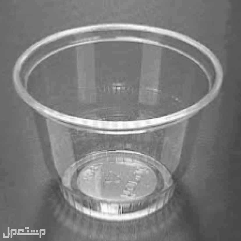 طقم عدد 6 كوب بلاستيك شفاف للحلى