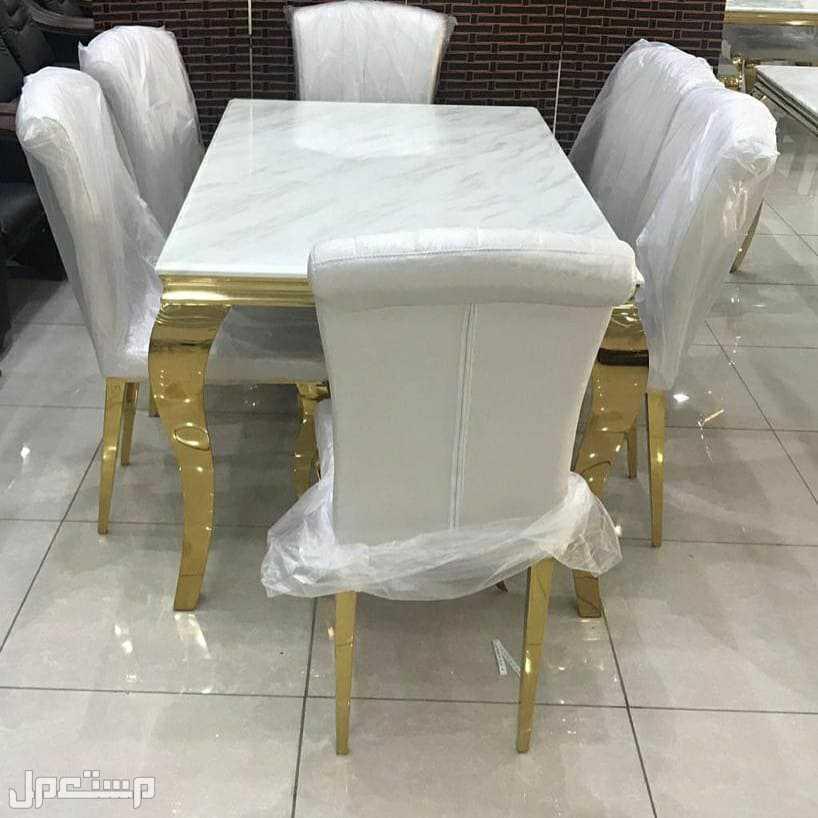 طاولة طعام رخام فخمة بالكرتون