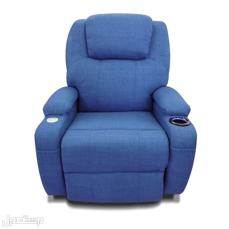 كرسي راحة كهربائي مع حامل أكواب وسماعات جانبية