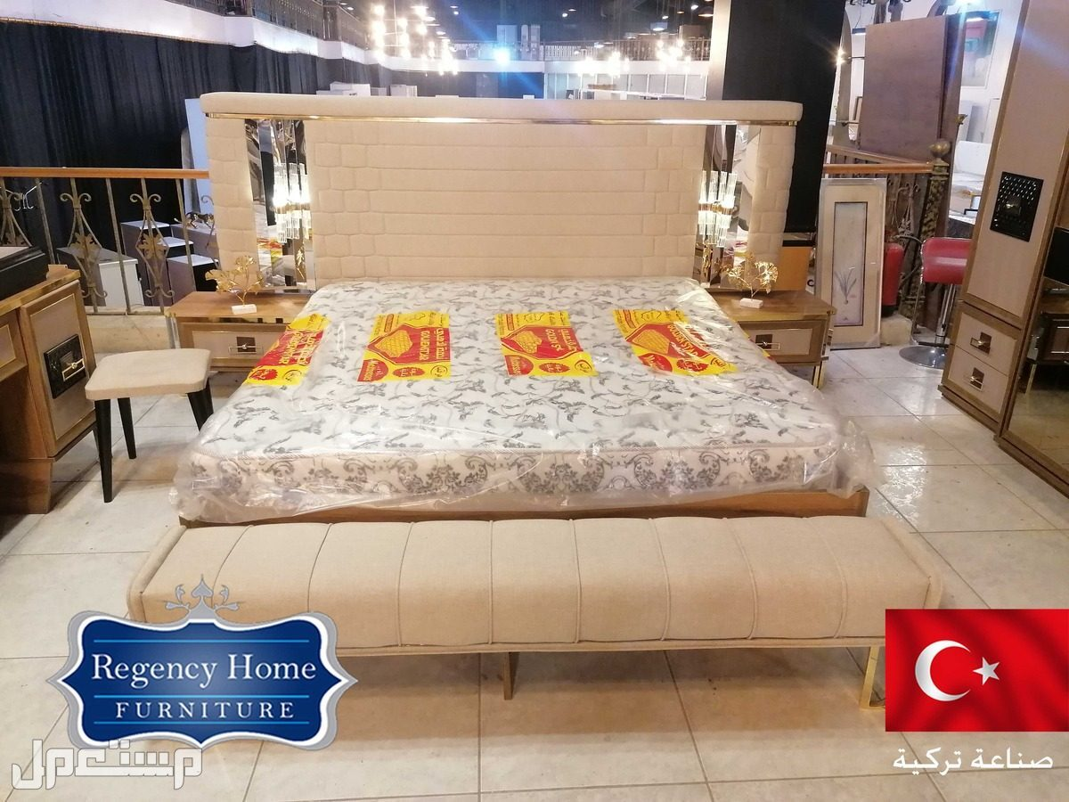 غرفة نوم جديدة و مميزة صناعة تركية غرفة نوم جديدة و مميزة صناعة تركية