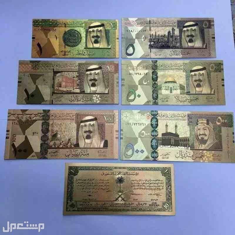 عملات اليورو والدولار وعملات السعوديه بالعشره البيضاء مذهبه البند 1