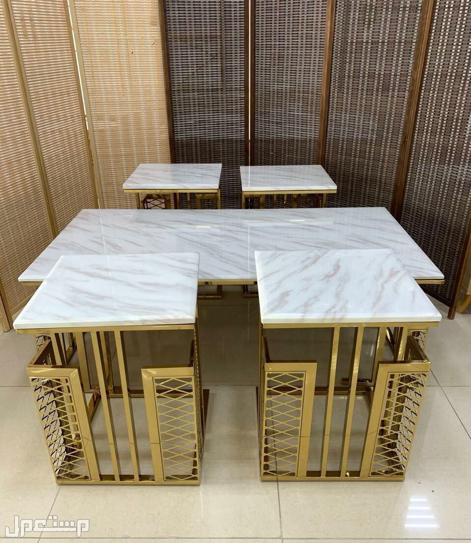 طاولات ستيل سطحية رخام