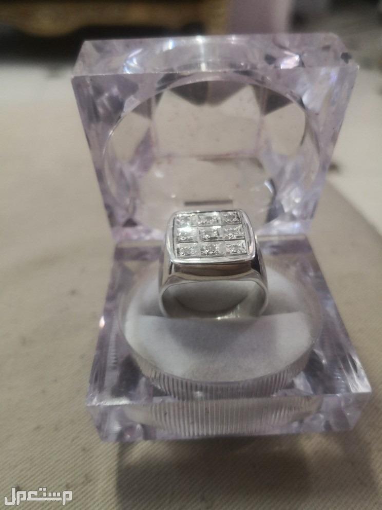 خواتم فضة الماس طبيعي 800