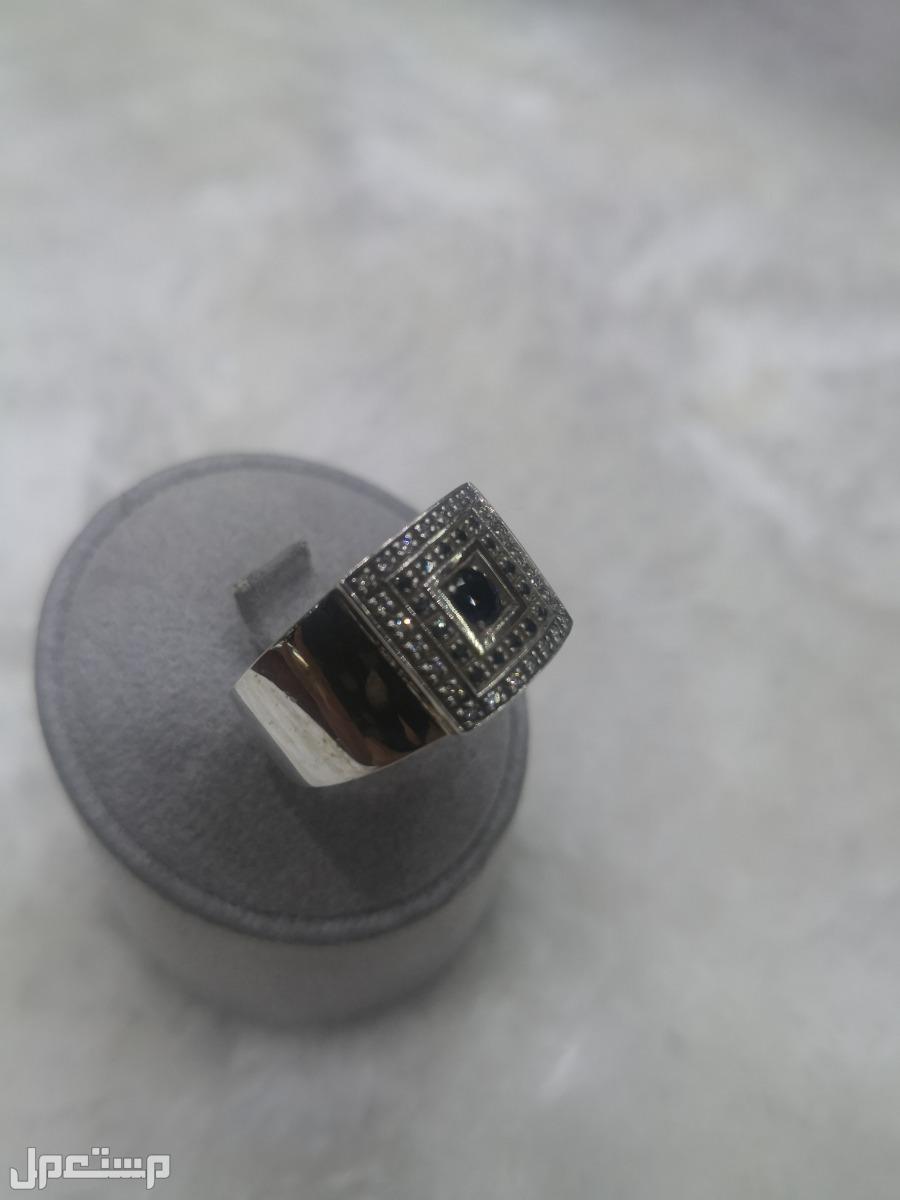 خواتم فضة الماس طبيعي 1000