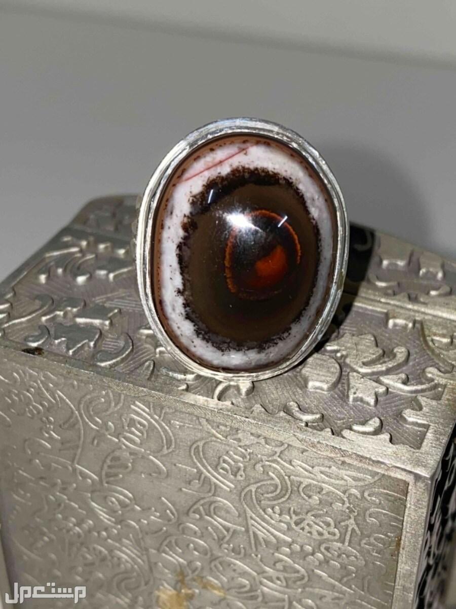 خاتم عقيق يماني سليماني قديم وغريب ومميز