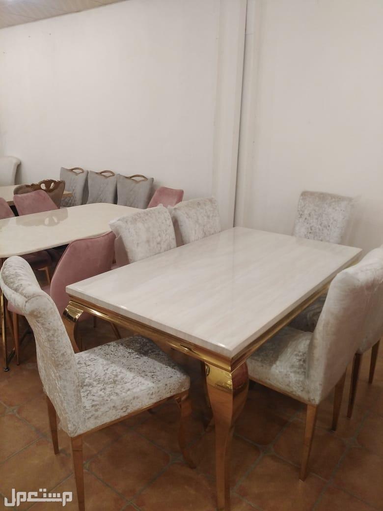 طاولات رخام وستيل جديدة بالكرتون خامة ممتازة وجودة عالية