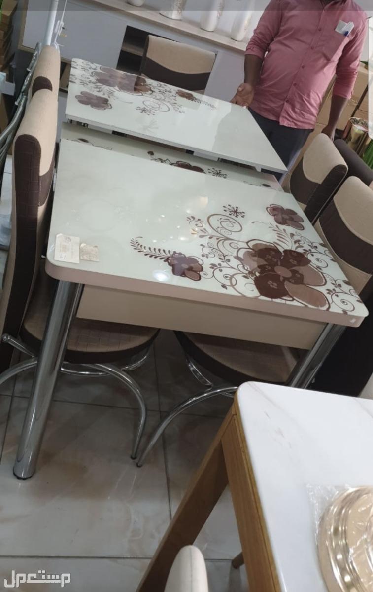 طاولة طعام زجاج مقام للحرارة صناعة تركية