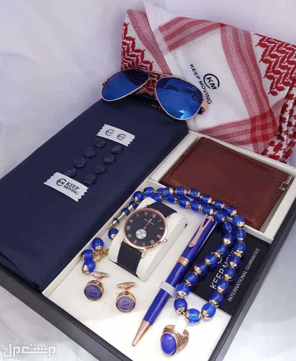 طقم رجالي قماش شماغ ساعه قلم كبك  نظاره محفظه التصميم حسب الطلب