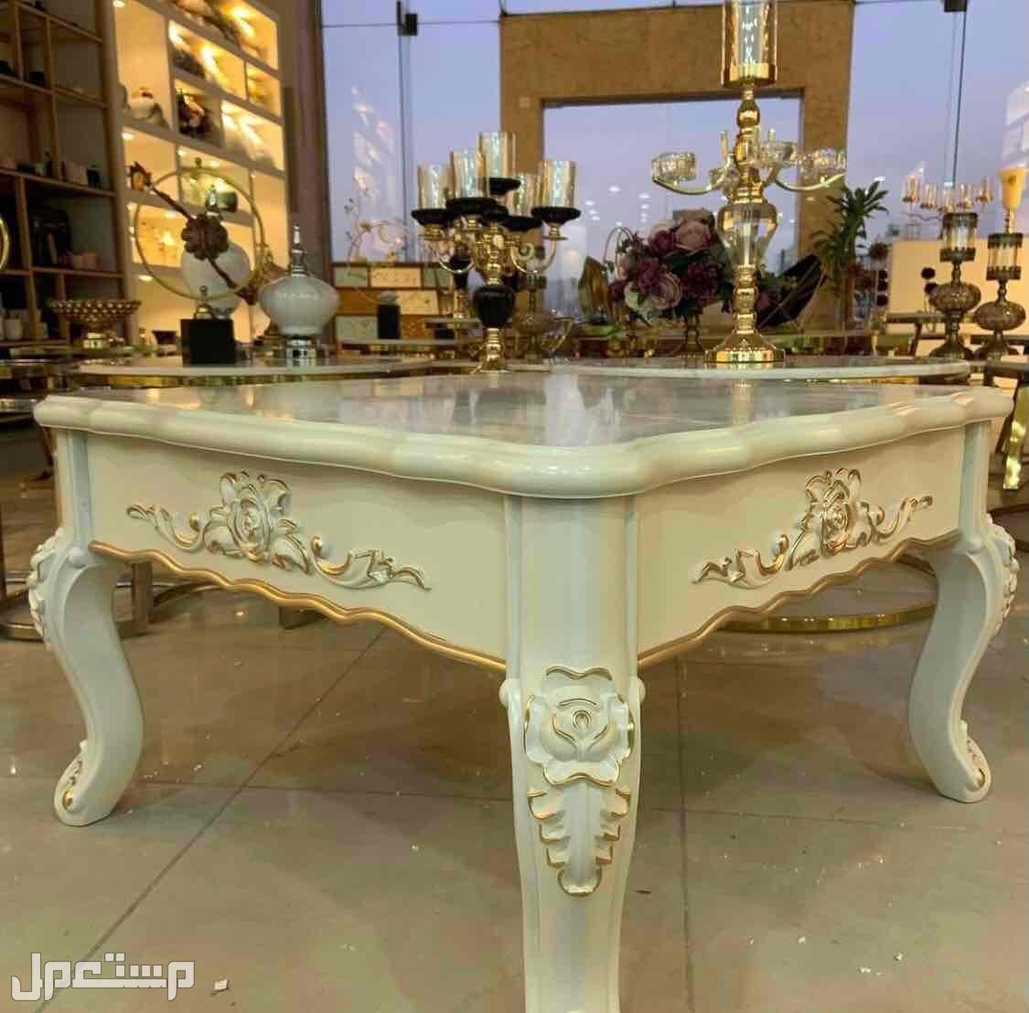طاولات خشب تركي - طاولات رخام طبيعي