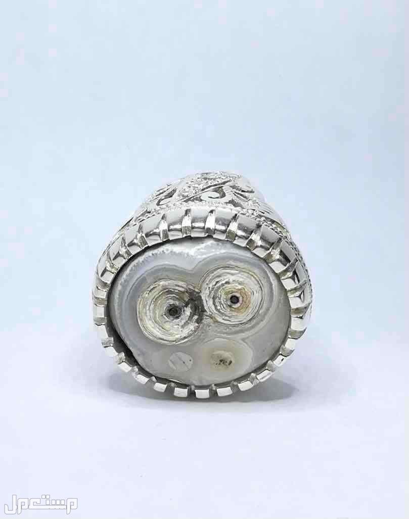 خاتم عقيق هندي مدور ومصور فيس