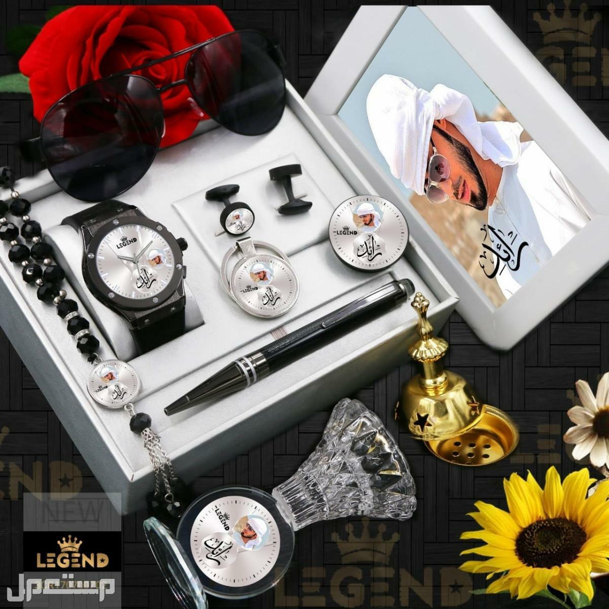 ساعة رجالية مميزه بالاسم والصوره حسب الطلب