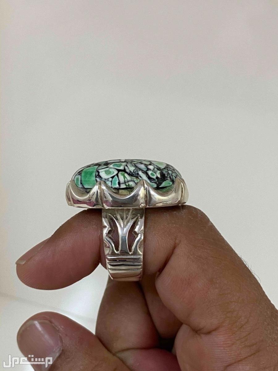 خاتم ملكي نادر اللون والفصيله جزع نادر