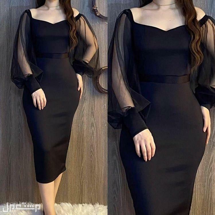فستان الجمال والاناقة متوفر بلونين. اسود وعودي