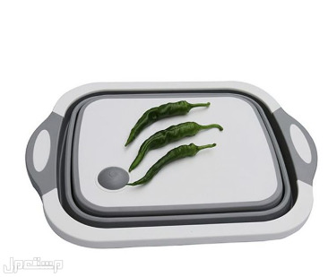 وعاء قابل للطي 2 في 1 لتقطيع وغسل الخضروات