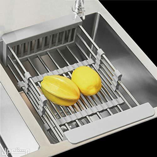 حامل تجفيف الأطباق والفواكه والخضروات.
