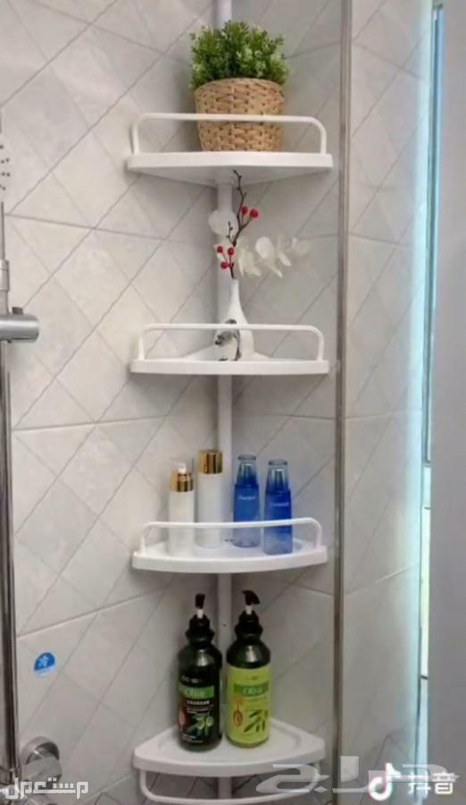 مركن زاوية ومنظم لادوات الحمام