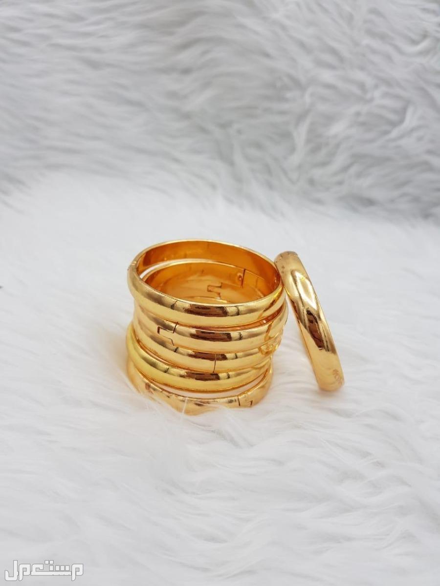 بناجر غوايش بديل الذهب مطلي ضمان سنه لون