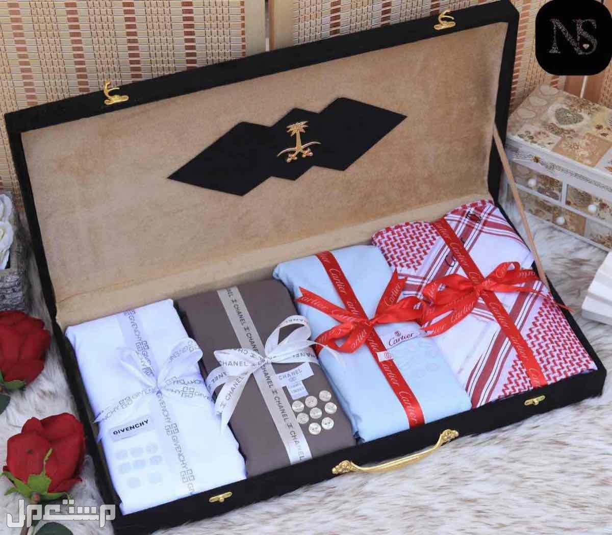 بوكسات هدايا رجاليه جفنشي شانيل فرزاتشي قماش شماغ ساعه قلم كبك