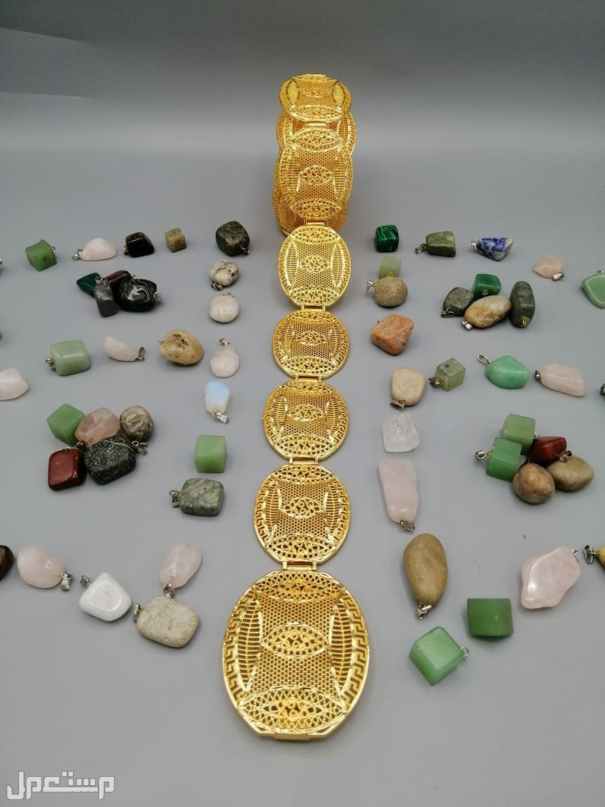 حزام زاركون مطلي بماء الذهب