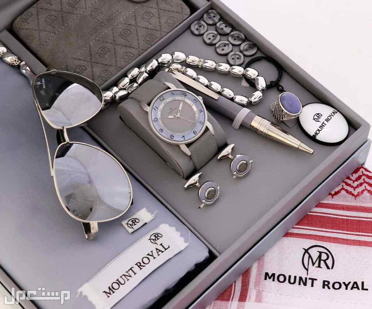 طقم رجالي مونت رويال قماش شماغ ساعه قلم كبك خاتم  نظاره محفظه