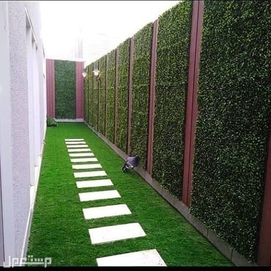 تنسيق حدايق وعشب صناعي عشب صناعي جداري