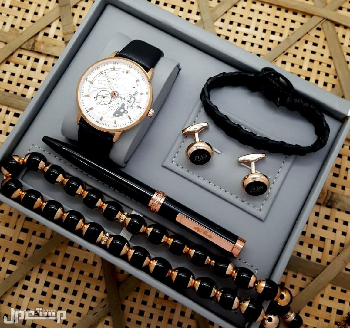 ساعة رجالية مميزة جلد هاي كواليتي
