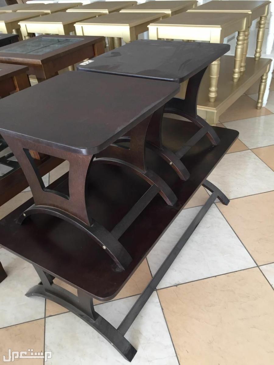 طقم طاولة خشب صناعة تركية جديدة بالكرتون