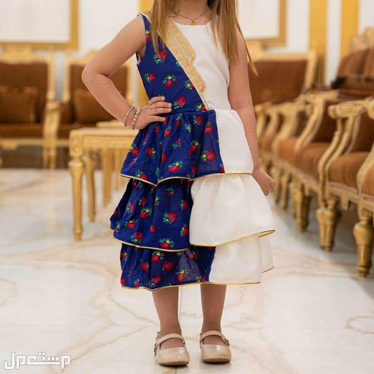 فستان بناتي مميز مع تطريز الاسم حسب الطلب # يوجد شحن لجميع المدن