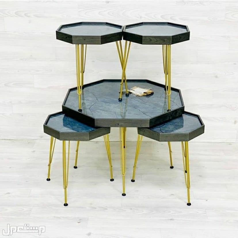 طاولات 5 قطع جديدة بالكرتون صناعة تركية