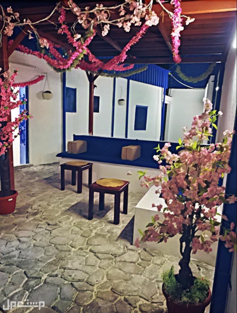 استراحة البيت الأزرق بالهدا بالنظام اليوناني