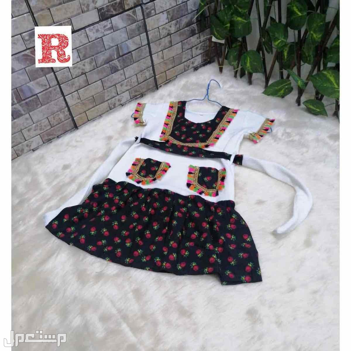 فستان بناتي مع تطريز الاسم حسب الطلب
