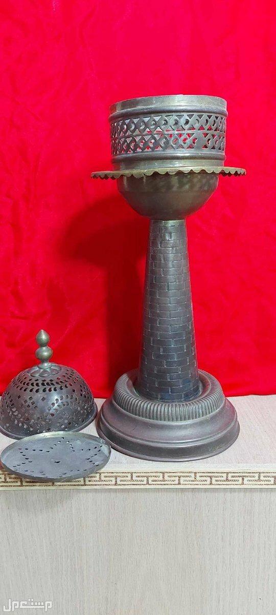 تحفة جميلة تراثية شمعدان تركي فاخر من 3 قطع