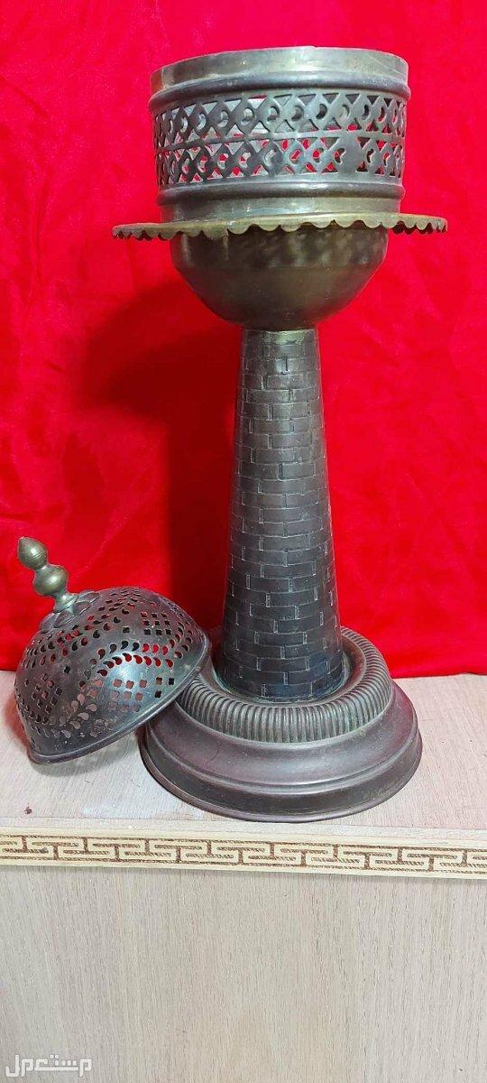 تحفة جميلة تراثية شمعدان تركي فاخر