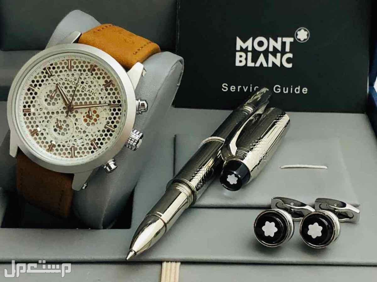 طقم رجالي مونت بلانك ساعه قلم كبك