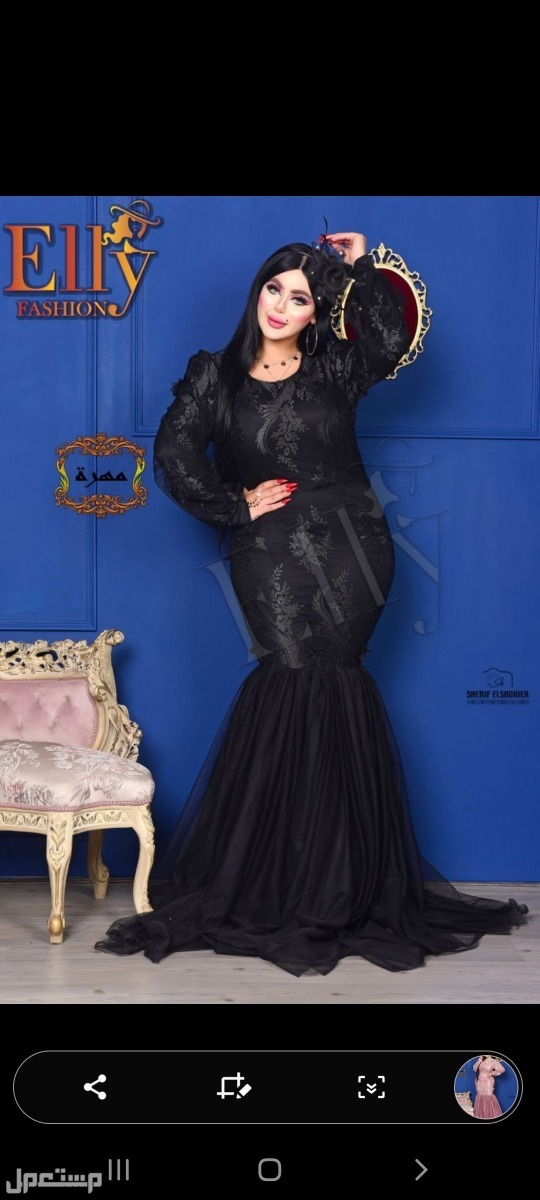 موديل  مهرة فستان سواريه