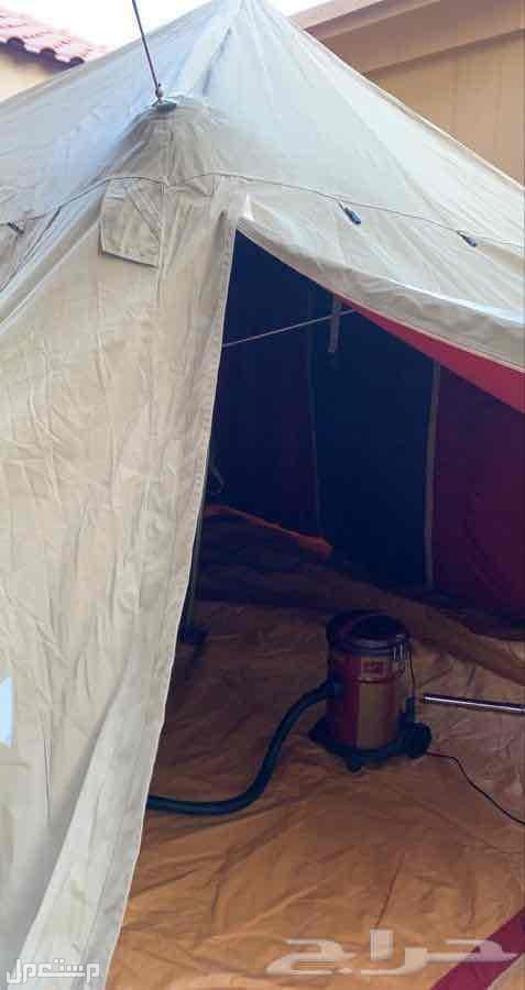 خيمة البيرق 4 في 4 شبه جديده استخدام 3 مرات فقط